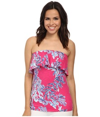 Lilly Pulitzer Wiley Tube Top Capri Pink Women's Blouse