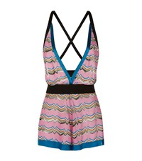 Missoni Mare Contrast Halter Neck Playsuit Female Pink