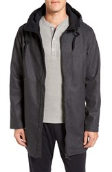 Men's Bench. Manageable Wool Blend Hooded Parka