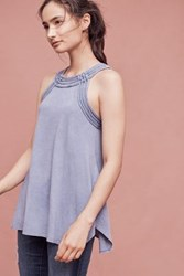 Anthropologie Indigo Fields Tank Dark Blue