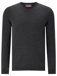 John Lewis Made In Italy Merino Wool Crew Neck Jumper Charcoal