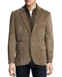 English Laundry Corduroy Quilted Combo Blazer Tan
