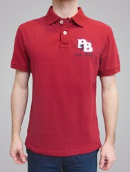 Raging Bull Big And Tall Rb Applique Polo Wine