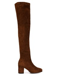 Opening Ceremony Thigh High Boots Brown