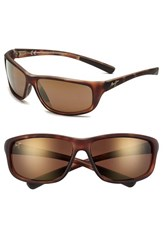 Men's Maui Jim 'Spartan Reef Polarizedplus2' 64Mm Sunglasses Matte Tortoise Bronze