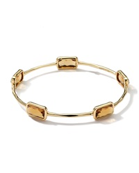 Ippolita 18K Gold Rock Candy Gelato 5 Stone Bangle Cognac Citrine