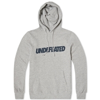 Undefeated Text Pullover Hoody Grey Heather