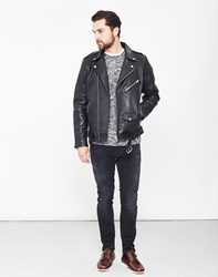 Selected Nico Leather Jacket Black