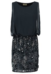 Lace And Beads Sharon Rochelle Summer Dress Navy Dark Blue