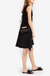 Victoria Beckham Women S Fluted Crepe Dress Boutique1 Black