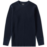 Homespun Long Sleeve Waffle Tee Blue