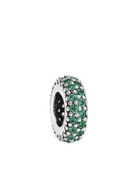 Pandora Design Pandora Spacer Sterling Silver And Cubic Zirconia Inspiration Within Moments Collection Dark Green