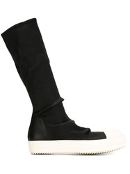 Rick Owens Sock High Top Boots Black
