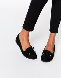 Asos Monthly Flat Shoes Black