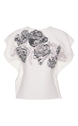 Roland Mouret Roderick Top White