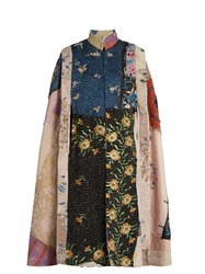 By Walid Sima Floral Embroidered Cape Multi