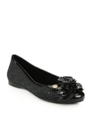 Tory Burch Blossom Jelly Ballet Flats Black