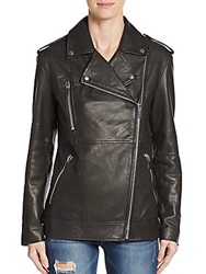 Elizabeth And James Renley Leather Motorcycle Jacket Black