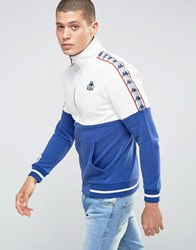 Kappa Track Jacket With Contrast Panels Blue