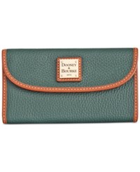 Dooney And Bourke Pebble Continental Clutch Hunter