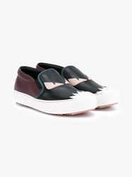 Fendi Leather Bag Bug Trainers Black Burgundy Pink Blue White