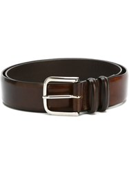 Orciani Faded Effect Belt Brown
