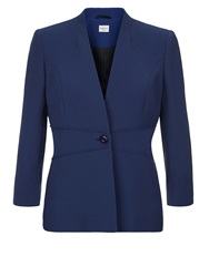 Eastex Waist Pipe Single Button Jacket Navy