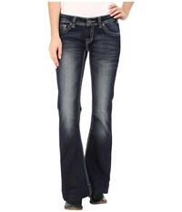 Rock And Roll Cowgirl Trouser Low Rise In Dark Vintage W8 5640 Dark Vintage Women's Jeans Navy