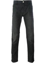 Love Moschino Rear Print Slim Fit Jeans Black