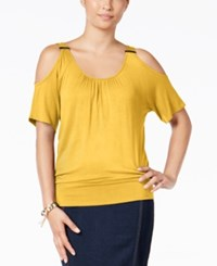 Thalia Sodi Cold Shoulder Top Only At Macy's Golden Hour