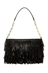 Abro Leather Fringe Handbag Black