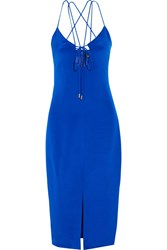 Cushnie Et Ochs Courtney Cutout Silk Crepe Dress Royal Blue