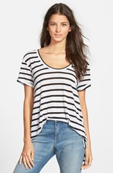 Women's Stem A Line Tee Black Ginny Stripe