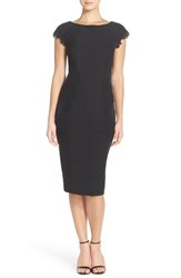 Women's Maggy London Lace Detail Crepe Sheath Dress