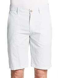 Saks Fifth Avenue Seersucker Stripe Shorts Antique White