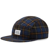 Norse Projects Tartan Check 5 Panel Cap Blue