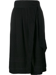 Cecilie Copenhagen Abalone Cotton Midi Skirt Black