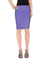 Annarita N. Skirts Knee Length Skirts Women Purple