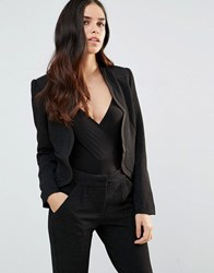 Paper Dolls Scallop Edge Blazer Black