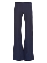 Derek Lam Mid Rise Flared Wool And Silk Blend Trousers