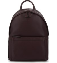Ted Baker Zipped Leather Backpack Oxblood