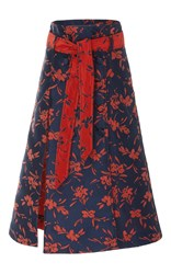 Prabal Gurung Safari Floral Midi Skirt