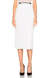 Roland Mouret Exton Rippled Chiffon And Stretch Viscose Skirt In White