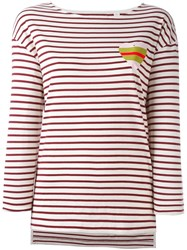 Chinti And Parker Stripe Heart Sailor T Shirt Nude And Neutrals