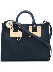 Sophie Hulme Small 'Le Mid' Tote Blue