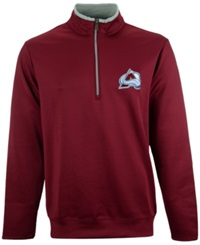 Antigua Men's Colorado Avalanche Quarter Zip Pullover Maroon Silver