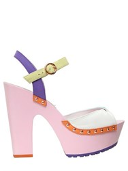 Sophia Webster 130Mm Aqua Suede And Leather Sandals