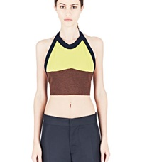 Marni Knitted Halterneck Top Brown