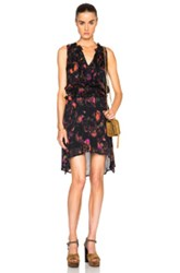 Calvin Rucker Candy Shop Dress In Black Abstract Purple