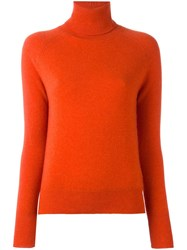 Zanone Turtleneck Jumper Yellow Orange